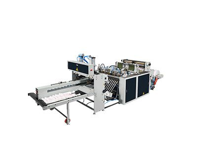 Fully Automatic High Speed 2 Lines T-Shirt Bags Making Machine / ST-66 / ST-66-500