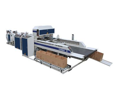 Fully Automatic High Speed 2 Lines T-Shirt Bags Making Machine For In-Line Auto Packagin System / ST-99-AP