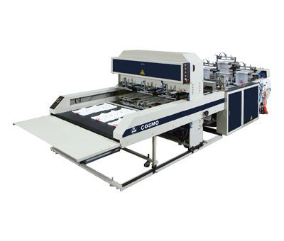 Fully Automatic High Speed 3 Lines T-Shirt Bags Making Machine / ST-88-L3S-400 / ST-88-L3S-300.400
