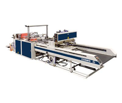 2 Servo Driven System 2 Lines T-Shirt Bags & Bottom Seal Bags Making Machine / SCB-800-L2S / SCB-1100-L2S