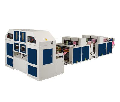 WITH CORE CORELESS BAGS-ON-ROLL MAKING MACHINE / STRCR-40-L2