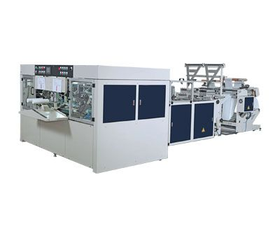 2 LINES INTER-LEAVED STAR-SEAL&BOTTOM SEAL BAGS-ON-ROLL MACHINE(CORELESS) / SIR-400-L2